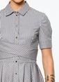 Utopian Çizgili Gömlek Elbise Pembe